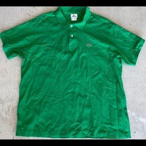 Men LACOSTE Pique Knit Kelly Green Polo Shirt XL